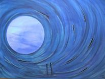 Weg, Licht, Hoffnung, Acrylmalerei