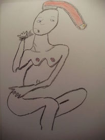 Lingham, Mütze, Frau, Malerei