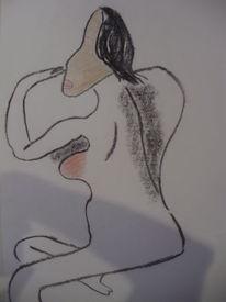 Rot, Brust, Stellung, Malerei