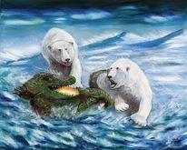 Kämfen, Seeungeheuer, Wasser, Eisbär