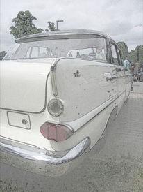 Alt, Oldtimer, Chrom, Opel kapitän