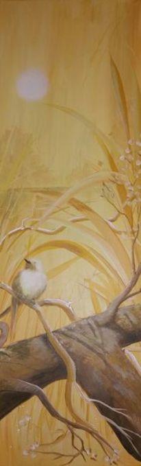 Vogel, Gelb, Sommer, Malerei