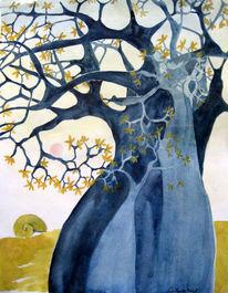 Baobab, Aquarell