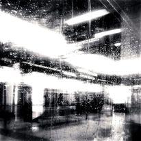 Regen, Fenster, Berlin, Schwarzweiß
