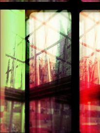 Gebäude, Fotografie, Holga, Reflexion
