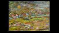 Kindheitserinnerungen, Bergdorf, Herbst, Malerei