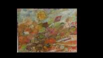Herbst, Dorf, Bergdorf, Malerei