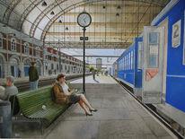 Reise, Menschen, Aquarellmalerei, Stadt