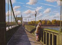 Himmel, Brücke, Gemälde, Luft