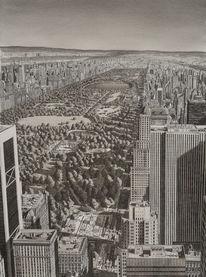 Zeichnung, Landschaft, Usa, Realismus