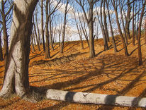 Wald, Realismus, Aquarellmalerei, Gemälde