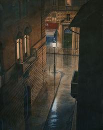 Schwarz, Gemälde, Realismus, Braun