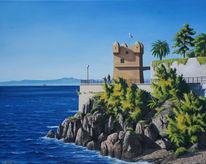 Menschen, Wasser, Malerei, Küste
