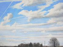 Luft, Gemälde, Landschaft, Himmel