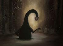 Sumpf, Dunkel, Monster, Malerei