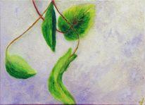 Fenster, Ölmalerei, Strukturpaste, Temperamalerei