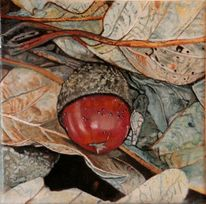 Herbst, Eichel, Blätter, Malerei