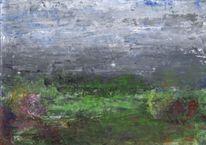 Stimmung, Blumen, Garten, Gras
