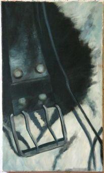 Ölmalerei, Stillleben, Schwarz weiß, Malerei