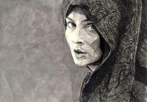 Frau, Blick, Got, Zeichnungen