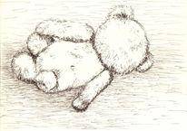 Kinder, Bär, Müde, Skizze