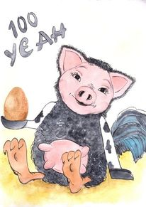 Schwein, Fabelwesen, Kuh, Schaf