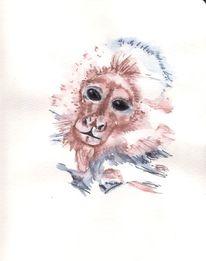 Affe, Fell, Augen, Zeichnungen