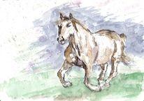 Gallopp, Tiere, Wiese, Pferde