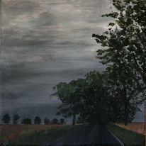 Feld, Himmel, Baum, Wolken