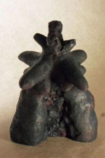Frau, Skulptur, Schwarz, Plastik