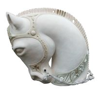 Skulptur, Keramik, Pferde, Plastik