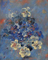 Blumen, Gemälde, Acrylmalerei, Malerei