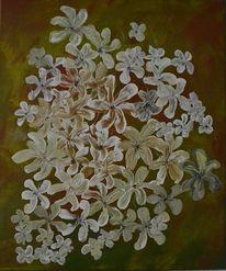 Acrylmalerei, Weiße blumen, Gemälde, Malerei