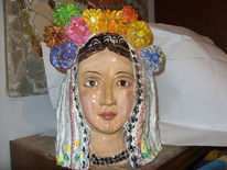 Person, Ceramic, Folklor costume, Mischtechnik