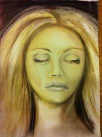 Augen, Pastellmalerei, Gesicht, Portrait