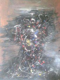 Abstrakt, Albtraum, Acrylmalerei, Farben