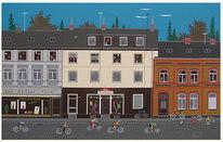 Beuel siegfried, Straße, Häuser bonn, Malerei