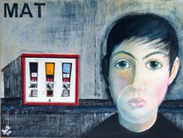 Automat kind lebenssinn, Malerei