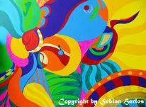 Leben, Abstrakt, Bunt, Acrylmalerei