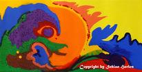 Acrylmalerei, Abstrakt, Strukturpaste, Malerei