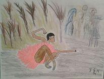 Park, Ballerina, Malerei