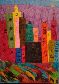 Fantasie, Stadt, Malerei