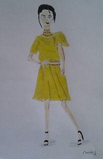 Model, Mode, Frau, Malerei