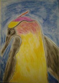 Pastellmalerei, Vogel, Malerei, Paradiesvogel