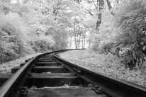 Schwarzweiß, Fotografie, Infrarot, Eisenbahn