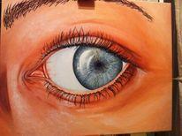Realismus, Menschen, Augen, Acrylmalerei