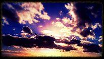 Digitale kunst, Sonnenuntergang, Sonne, Spiel