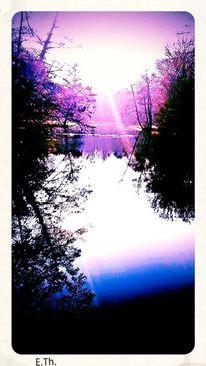 Digitale kunst, Sonnenaufgang, Morgen