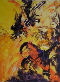 Energiebild, Adler, Malerei