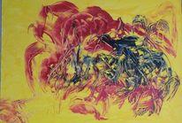 Krebs, Energiebild, Malerei